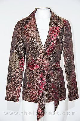 CACHÉ Women Multicolored Paisley Embroidered Jacket Blazer Career Sz 2