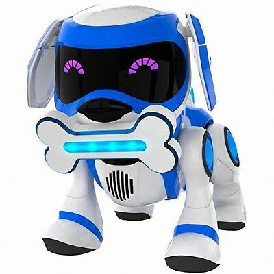Brand New Tekno Robotic Blue Puppy With Bone and Ball Interactive