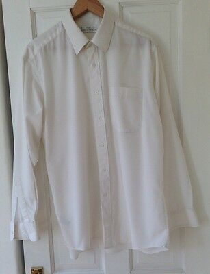 "Vintage M&S St Michael Men's Shirt - Cream 16"" Collar - UK"