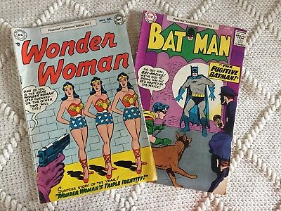 Wonder Woman No. 62 / Bat Man No. 123 Pizza Hut Collectors Edition Vol. 1 set