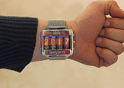 Nixie tube watch clock wrist watch self made,dock station,accelerometer.