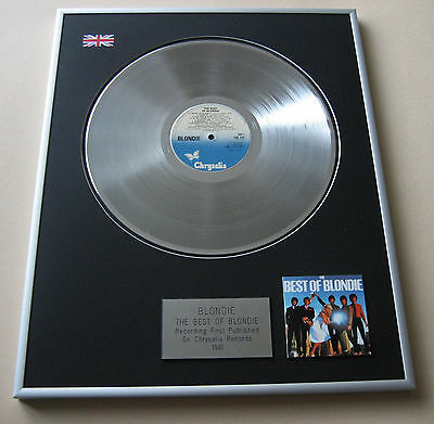 BLONDIE The Best Of Blondie LP Platinum Presentation Disc