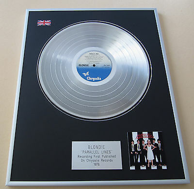 BLONDIE Parallel Lines LP Platinum Presentation Disc