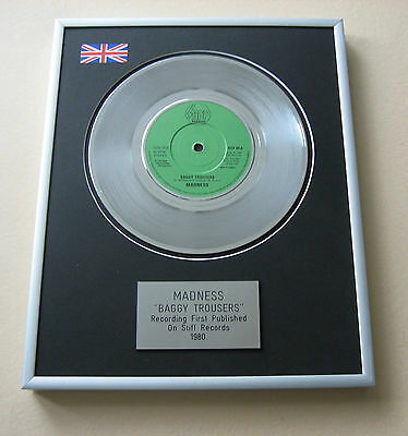 MADNESS Baggy Trousers PLATINUM SINGLE DISC PRESENTATION