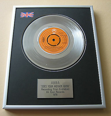 ABBA Does Your Mother Know PLATINUM SINGLE DISC PRESENTATION