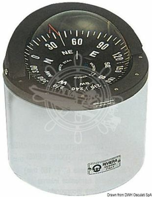 "Boat Marine Compass 6"" 150mm White for sail boats Riviera"