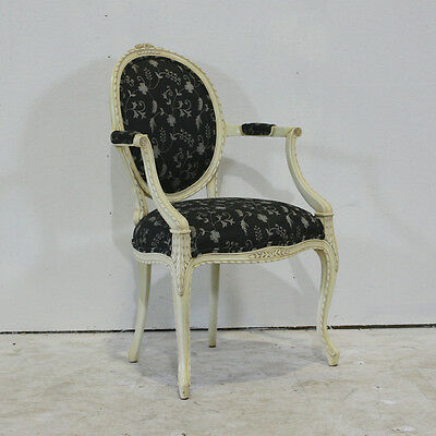 Set of 6 Louis XV style dining arm chairs mahogany