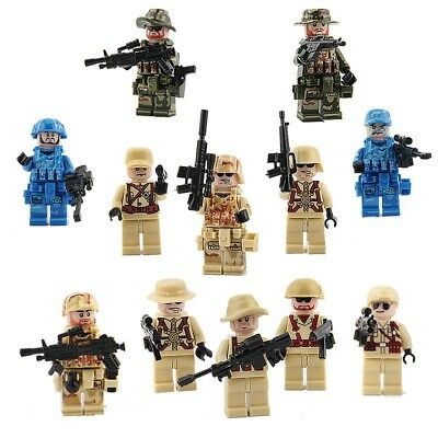 12 pcs Military Army Boys Toys  Swat Eagle WW2 Military US Soldier Weap Fit Lego