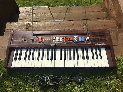 Vintage 1980's Classic Casio 403 Electric Piano Style Keyboard & Music Stand