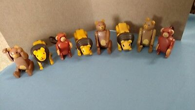 Vintage Fisher Price Circus Animals - Lions and Bears and Monkeys