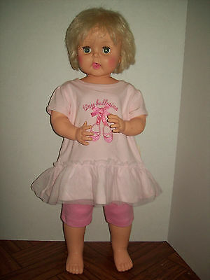 1964  VINTAGE HORSMAN DOLL THIRSTY WALKER 27 INCHES TB26 Tiny Ballerina Outfit