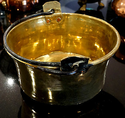 Antique French Brass Cooking Pot