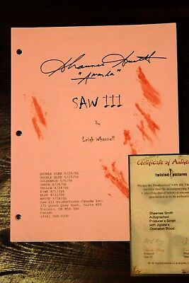 Authentic Official SAW movie script signed by Shawnee Smith Conjuring Annabelle