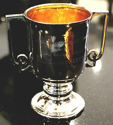 Antique Sterling Silver Art Deco Trophy Cup
