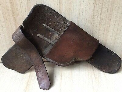Vintage Collectible Retro Russian Genuine Leather Police Gun Pistol Holster