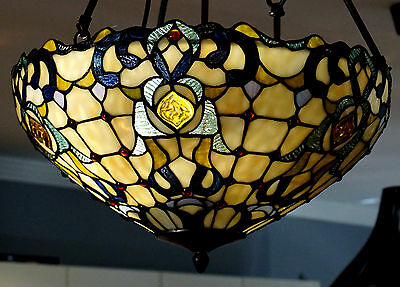 Tiffany Style Lead light Shade Hanging Lamp