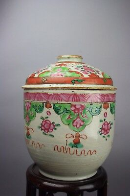 18th C. Chinese Export Porcelain Lidded Vessel