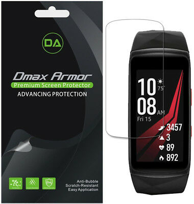 [6-Pack] Dmax Armor Samsung Gear Fit2 Pro Full Coverage Clear Screen Protector
