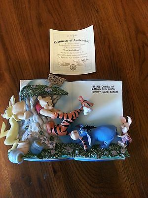 Winnie The Pooh Storybook Collection 1St Issue Bradex 3D Wall Plate Coa