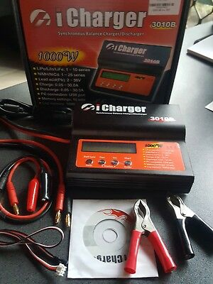 iCharger 3010B 1000W 10S 30A USB Port LiPo Balance Battery Charger Lilo LiFe