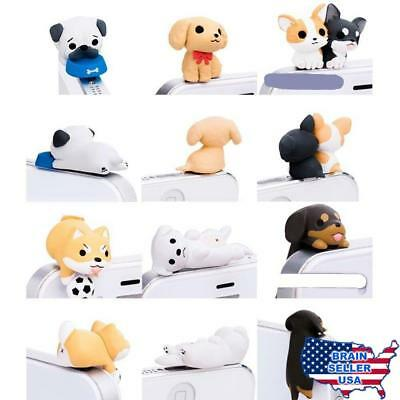 iAnko® 6 Pcs (Whole Set) Cute Little Puppy Dust Plug Stopper Universal 3.5mm Ant