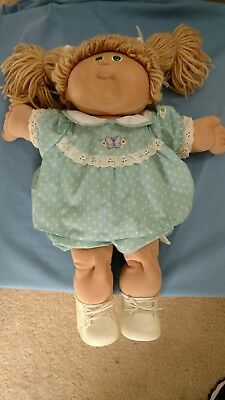 Original Cabbage Patch Kid with Teal Stamp on Bottom- Xavier Roberts