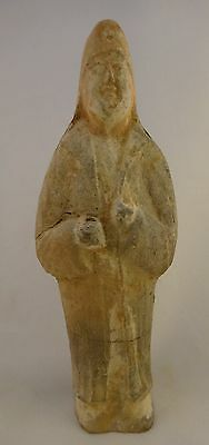"""Ancient Chinese Tang dynasty Guardian/Attendant Tomb Figure 7th/9th cent. 7 5/8"""""""