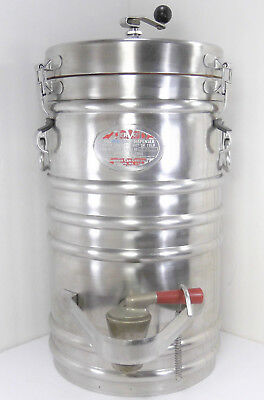 AerVoid 5 Gallon Stainless Steel Thermal Vacuum Soup Dispenser Thermos Can NSF