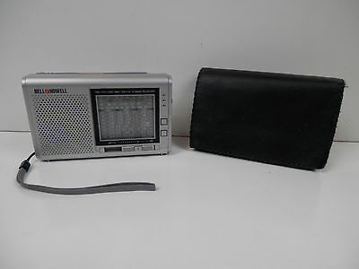 Bell+Howell FM/TV1/AIR/MW/SW1-8 Radio 12 Band Receiver 08M3 with Sleeve Tested