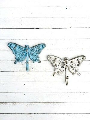 Iron Vintage Antique Butterfly Hook - Rustic House Wall Art Home Hangings Decor