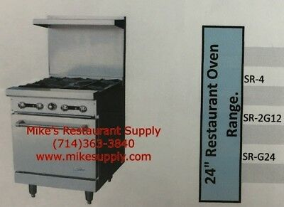 """NEW 24"""" 4 Burner Range with Gas Oven Stratus SR-4 #7224 Commercial Cook Stove"""