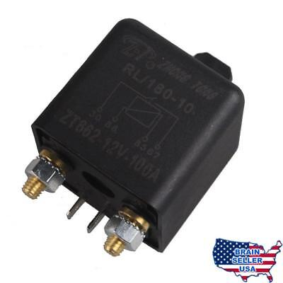 E Support Car Auto Heavy Duty Split Charge DC 12V 100A 100 AMP SPST Relay 4 Pin