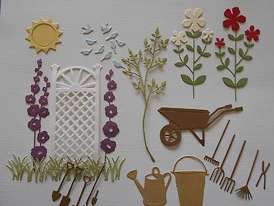 Die cuts - Garden, Flowers, Wheelbarrow, Tools