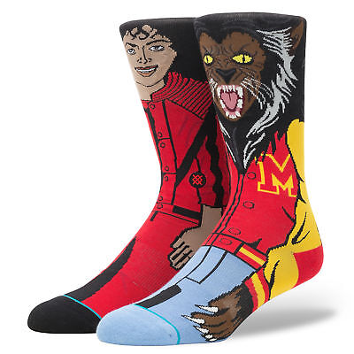 Stance Socks MICHAEL JACKSON-New w/Tags large mens fit BRAND NEW - RED THRILLER
