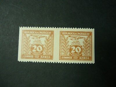 Paraguay #C67 MNH imperf between 2 stamps vertically