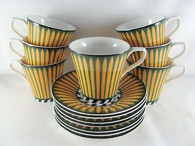 7 Sasaki Mazarin Cups and Saucers, 14 pc
