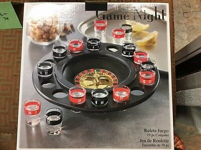 New In Box Game Night Roulette Shot Glass Drinking Game