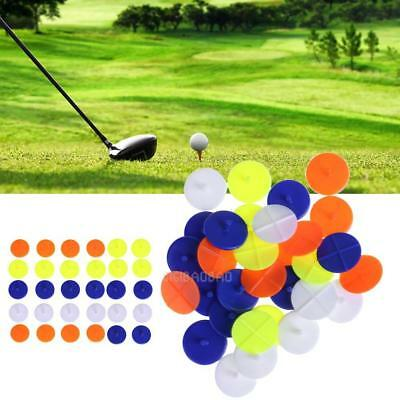 New 30 pcs/pack Round Plastic Golf Ball Position Markers Multi-Color Marker Mark