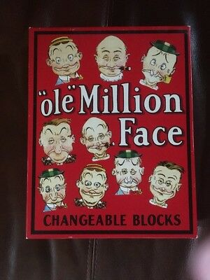 Ole Million Face Changeable Face Blocks 1998 by Optical Toys Rare Htf