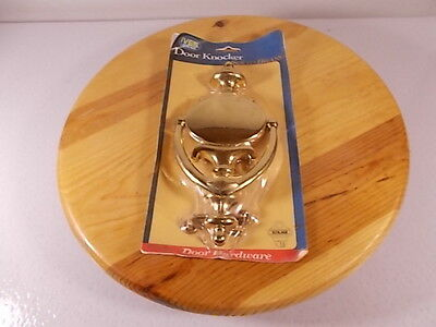 "Ives Schlage Door Knocker Heavy Polished SOLID BRASS 8.5"" x 4"" New With Hardware"