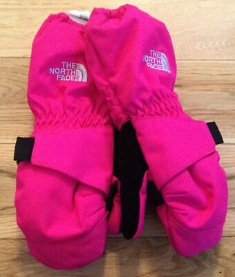 THE NORTH FACE Mitt Mittens DryVent Pink Waterproof Thermal Toddler Girls 3T
