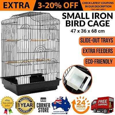 Bird Cage Parrot Canary Aviary Pet Stand alone Budgie Perch Castor Wheels Large