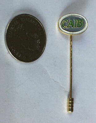 Canadian Accredited Insurance Broker (CAIB) GOLD PLATED STICK PIN