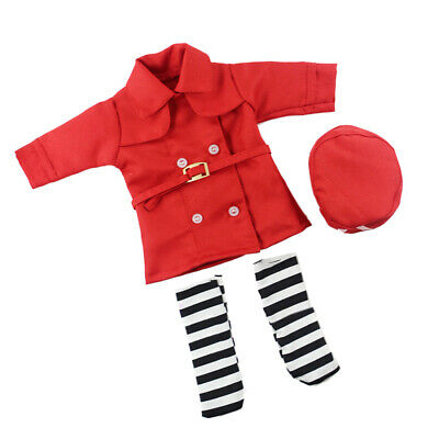 Doctor Nurse Costume Set Clothes for 14in American Girl Doll Accessories Red