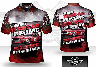 Musclecar Bathurst Trans-AM Mustang 1969 Mens polo shirt