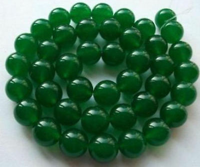 """6MM Natural Green Emerald Round Gems Loose Beads 15""""AAA"""