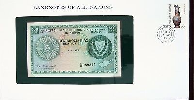 CYPRUS- 1979 - 500 MIL - P42c - CU - BANKNOTES OF ALL NATIONS 7279