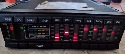Old School Realistic 12-1958 7 Band Graphic Equalizer Booster 120W