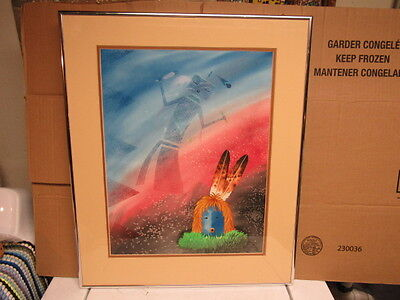 vintage navajo painting listed artist Ray Yazzie