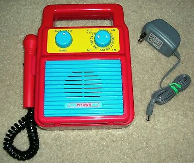 Rare Vintage - My Own Toy Am Fm Radio Mo1615 Concept 2000 With Microphone